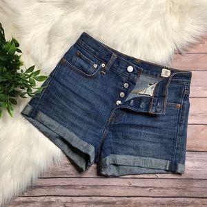 Levi's White Oak buttonfly denim shorts